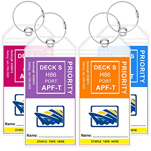Premium Cruise Luggage Tags Holders for Carnival Cruise Ship Line by BERNG,...