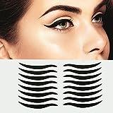 Dolovemk | 40 Pairs Temporary Eye Sticker Transfer Eyeshadow Eyeliner Stickers Eye Make-up Stickers for Brown Eyes, Easy to Apply, 4.3cm X0.4cm