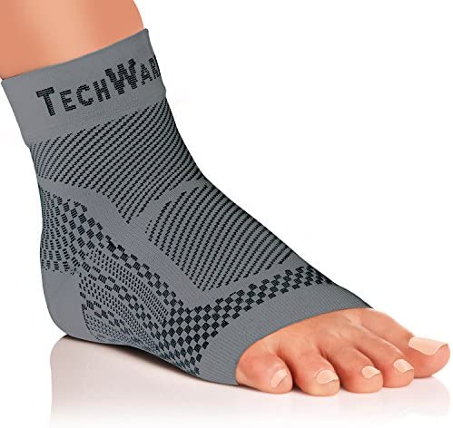 TechWare Pro Ankle Brace Compression Sleeve - Relieves Achilles Tendonitis, Joint Pain. Plantar Fasciitis Sock with Foot Arch Support Reduces Swelling & Heel Spur Pain. Injury Recovery for Sports 3