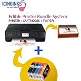 Latest Cake Printer Bundle Package - 50 Sheets,Cake Cartridges, Free Image Designing Lifetime, Cake Printer,Cake Image Printer by Icinginks