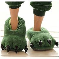 Green Dinosaur Slippers