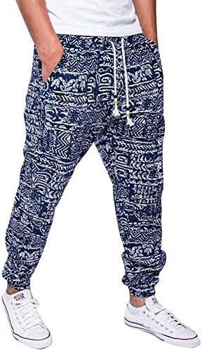 lexiart Mens Fashion Baggy Pants – Cotton Loose Harem Yoga Pants