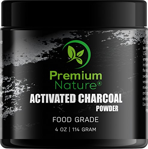 Activated Charcoal Teeth Whitening Powder - 4oz Natural Whitener Plaque Remover Sensitive Tooth Bad Breath Brush Gums Toothpaste Face Wash Skin Cream Treatment Wow Blanqueador De Dientes