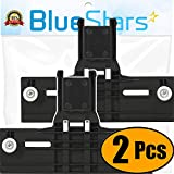 [ Upgraded ] Ultra Durable W10350376 Dishwasher Top Rack Adjuster Replacement part by Blue Stars - Exact Fit For Whirlpool & Kenmore Dishwashers - Enhanced Durability with Steel Screws - PACK OF 2