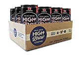 High Brew Cold Brew Coffee - Black & Bold 8 Ounce (12 Count) Grab & Go Pre-Made Cold Brew Direct Trade Coffee Low-Acidity Caffeine Drink