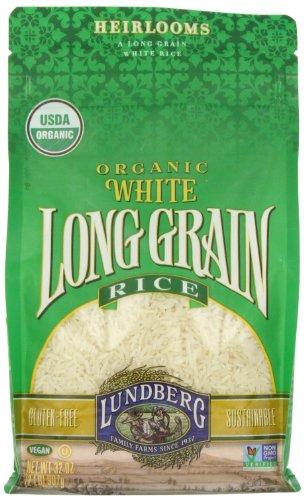 Lundberg White Rice, Long Grain, Gluten Free, Organic, 2 lb