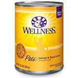 Wellness Natural Grain Free Wet Canned Cat Food, Salmon & Trout Pate, 12.5-Ounce Can (Pack of 12)