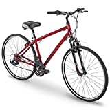 "700c Royce Union RMY Mens 21-Speed Hybrid Comfort Bike, 21"" Aluminum Frame, Metallic Red"