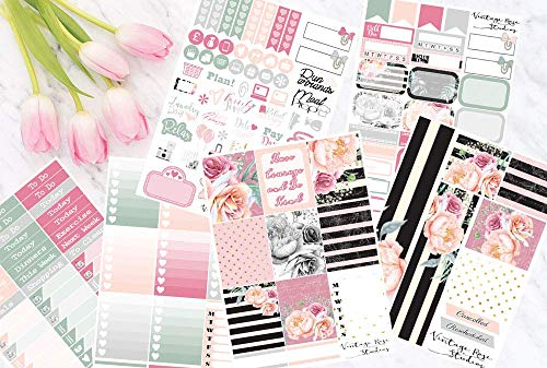 Be Kind Planner Stickers Vertical Weekly Kit for Erin Condren Life Planners for All Planner Type Stickers