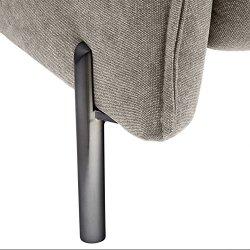 Amazon Brand – Rivet Cyprus Mid-Century Modern Sofa Couch, 88″W, Light Grey