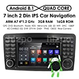 Android 8.1 Quad Core Car in Dash Radio for Mercedes Benz ML Class W164 2005-2012 & ML300 & ML350 & ML450 & ML500 DVD Player GPS Navigation 7' Car PC Stereo Head Unit
