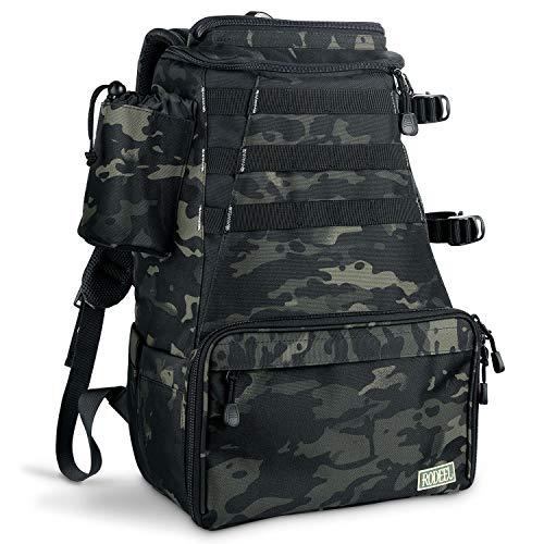 Rodeel Fishing Tackle Backpack, 2 Fishing Rod Holders, Large Storage, Water...