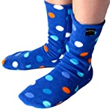Polar Feet Adults' Non-slip Fleece Socks (M (W 8-9.5, M 7-8), Big City Blues)
