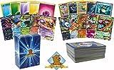 100 Pokemon Card Lot With 1 Mega Ex and 2 Ex Ultra Rares! Foils Rares Energy! Includes Golden Groundhog Box!