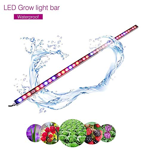 LED Grow Light, 108W Waterproof 45 inches Growing Light bar with UV/IR/Red/Blue Spectrum for Garden Greenhouse Hydroponic Indoor Plants Growing by LIGHTIMETUNNEL
