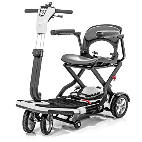 Pride Go-Go S19 Folding Mobility Scooter for Adults, Lithium-Ion Battery, Includes Heavy Duty Challenger Mobility All Weather Vinyl Cover