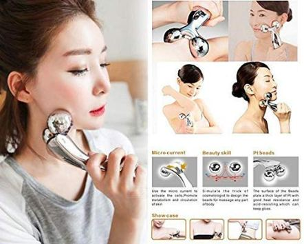 R-Runilex-Manual-3D-Massager-Roller-360-Rotate-Face-Full-Body-Shape-Skin-Lifting-Wrinkle-Remover-Facial-Massage-Relaxation-Tool-Silver-155-x-95-x-5-cm