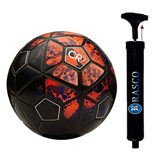 RASON CR-7 Rubber Football, Size 5, (Red)