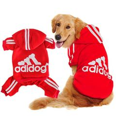 Scheppend-Original-Adidog-Big-Dog-Large-Clothes-Sport-Hoodies-Sweatshirt-Pet-Winter-Coat-Retriever-Outfits-Red-XXXX-Large