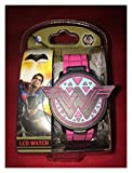 BATMAN v SUPERMAN: DAWN OF JUSTICE WONDER WOMAN YOUNG ADULT LCD WATCH BVS4066WM