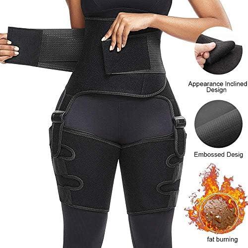 DAWNDEW Waist Trainer for Women, 3-in-1 Waist and Thigh Trimmer Butt Lifter-Weight Loss Slimming Body Shaper Belt, Adjustable Hip Enhancer, Hips Belt Trimmer Body Shaper Workout Fitness Training 2