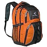 Exos Backpack, (Laptop, Travel, School or Business) Urban Commuter (Burnt Orange/Black)