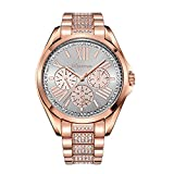 Product review of Swarovski Crystal Accented Women's Designer Watch. Rosegold Steel Case. Crystal Strap. BEST SELLER! UW610652