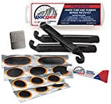 RocRide 16-PC Inner Tube Patch Bicycle Repair Kit. Also for Inflatable Dinghies, ATVs, BMX and Motorcycles