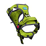 ThinkPet No Pull Harness Breathable Sport Harness - Reflective Padded Dog Safety Vest Adjustable Harness, Back/Front Clip for Easy Control S Green