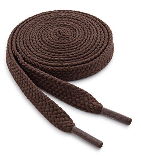 OrthoStep Wide Flat Athletic Light Brown Shoelaces...