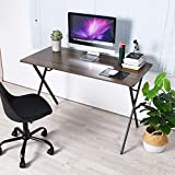 GreenForest Computer Writing Desk 47' Modern Simple Home Office PC Laptop Table Workstation, Walnut