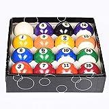Pool Balls Set 2-1/4' Regulation Size Professional Billiard Pool Balls Full 16 Balls Set