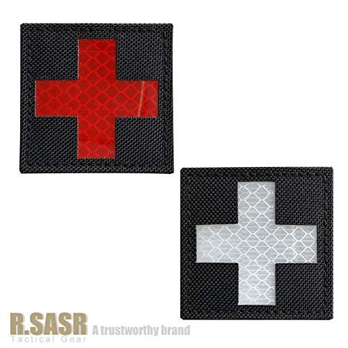 R.SASR Bundle 4 Pieces – Reflective Medic Patches, Tactical Medical Patches, Hook-Fastener Backing 2×2 inch (Mix) deal 50% off 51 PixdMcCL