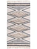 Wolala Home Morocco Cotton Hand Woven Printed Area Rugs Tufted Tassels with Anti Skid Pad Throw Rug Machine Washable Bath Mat,Doormat, Indoor/Outdoor Carpet 2' x 3'