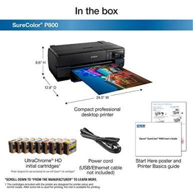 Epson-SureColor-P800-17-Inkjet-Color-PrinterBlack