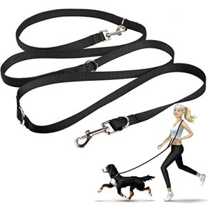 oneisall Hands Free Dog Leash,Multifunctional Dog Training Leads,8ft Nylon Double Leash for Puppy,Small & Large Dogs 1
