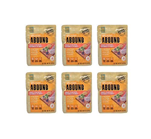 Abound Turkey Stew With Vegetables in Gravy Cat Food Pouch 3 oz (6 pouches)