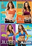 Jillian Michaels 4 DVD Set. 30 Day Shred/Banish Fat Boost Metabolism/No More Trouble Zones/6 Week Six-Pack