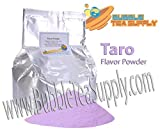 BEST-SELLING BUBBLE TEA SUPPLY TARO SMOOTHIE FLAVORED POWDER BOBA BUBBLE DRINK PREMIUM AWARD WINNING CUSTOMERS #1 CHOICE 40-45 SERVINGS (TARO BOBA TEA POWDER)