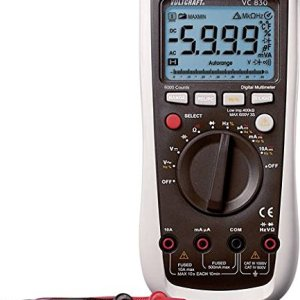 Voltcraft Digital Multimeter VC830, AC/DC, 6000 counts, CAT III 1000V CAT IV 600V