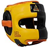Ring to Cage MUGHALS Deluxe Full Face GelLined Sparring Headgear (Medium)