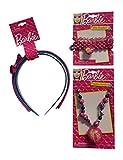 Barbie 6 pc. Deluxe Hair Accessories Headbands Bracelets Necklaces