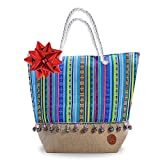 Beach Bags and Totes - Beach Tote - Large Beach Tote Bag for Women with Matching Small bag