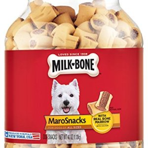 Milk-Bone MaroSnacks Dog Treats with Real Bone Marrow and Calcium, (6) 15 Oz. Boxes, All Size Dogs 6