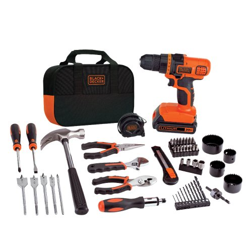BLACK+DECKER LDX120PK 20V MAX Cordless Drill and Battery Power Project Kit