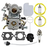 Mckin C1M-W26C P3314 Carburetor fits Poulan P3314WSA P3416 P3516 P3816 P3818 P4018 P4018WT P4018WTL P4018WM Gas Chainsaw Parts 545070601 with Fuel Cap Tune Up Kit