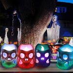 Litake-Skeleton-Candle-Lights-Battery-Operated-3D-Novelty-CandlesFlickering-Colorful-LED-Tea-Lights-Candles-for-Cosplay-Party-Festival-Room-Decoration-12-Packs