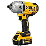 DEWALT 20V MAX XR Cordless Impact Wrench Kit with Hog Ring Anvil, 1/2-Inch (DCF899HP2)