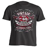 Vintage 60th Birthday Gift Shirt for Men Black X-Large