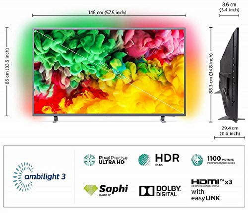 Philips 164 cm (65 inches) 6700 Series 4K Ambilight LED Smart TV 65PUT6703S/94 (Dark Sliver) 5